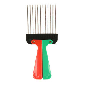Afro Hair Pick for Hair Styling with Colour Foldable Handle for Salon