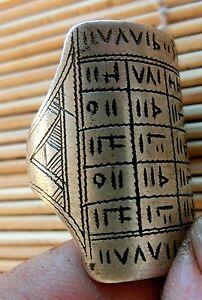 Ring Touareg Tuareg Ring Shisandar Platte Amulett Tifinagh