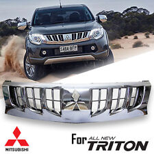 CHROME FRONT GRILL GRILLE WITH CHROME LOGO FOR MITSUBISHI L200 MN ML MQ 2015-ON