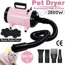 More details for 2800w pet dog cat grooming hair dryer heater blaster blower hairdryer low noise