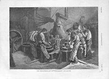 Les Industries qui disparaissent les Cloutiers les Clous Forge GRAVURE 1882