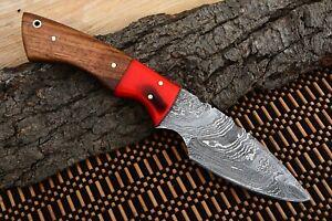 MH KNIVES CUSTOM HANDMADE DAMASCUS STEEL FULL TANG HUNTING/SKINNER KNIFE D-49I