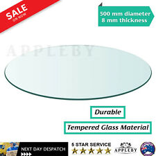 Dining Coffee Table Top Tempered Glass Round 500mm Thickness 8mm Transparent