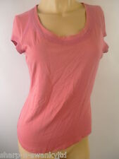 ☆ PER UNA Ladies Pink Scoop Neck Short Sleeved Stretch T-Shirt Top UK 12 EU 40 ☆