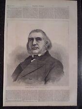 Father Alessandro Gavazzi Italian Preacher and Patriot Harper's Weekly 1872 Orig