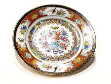 Assiette porcelaine de chine décor fleurs papillons et oiseaux