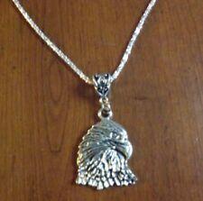 collier 57 cm avec pendentif aigle 34x24 mm