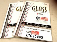 ZIZO Lightning Clear TEMPERED GLASS {2-Pack} 9H Screen Protector For HTC 10 EVO