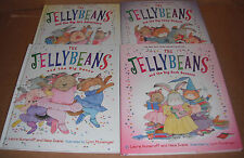Lot of 4 Jellybeans Hardcover Books by Laura Numeroff Nate Evans NEW
