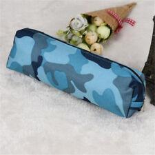 Camouflage Pen Pencil Case Makeup Bag Canvas Zipper Students Stationery Pouch CA