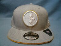 New Era 9Fifty Pittsburgh Steelers White Hot Heather Snapback BRAND NEW hat cap