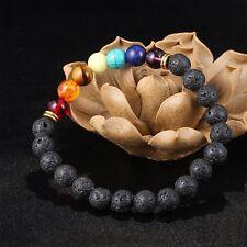 Bracelet homme femme perle tibetain 7 chakras shamballa bouddhiste