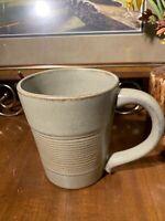 Vintage Stoneware Ribbed Taupe Glazed Pottery Coffee Tea Mug~Ribbed~Choice~Gift
