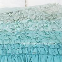 Sale was $199.95 Green Teal Shabby Queen Ruffle Duvet Doona Quilt Cover Chic