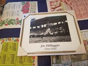 Joe Dimaggio Circa 1942 Vintage Photo in Gold Frame with Hanger 18X21 USA Yankee
