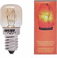 3 X Himalayan Salt Lamp Bulb Screw Pygmy Light Bulbs Set Clear Glass 15W E14