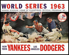 1963 World Series - (Yankees & Dodgers) Program Poster - 8x10 Color Photo