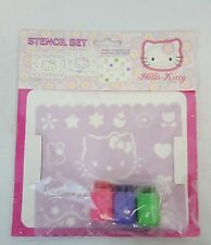 RARE Vintage 1998 Sanrio HELLO KITTY with CATHY & TEDDY Plastic Stencil Set NEW