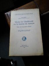 ROLAND BEYEN MICHEL DE GHELDERODE HANTISE DU MASQUE