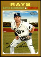 Kevin Kiermaier 2020 Topps Heritage 5x7 Gold #319 /10 Rays