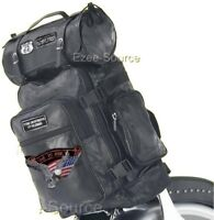 MOTORCYCLE SISSY T BAR TRAVEL LUGGAGE BAGS FOR HARLEY