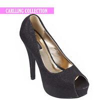 Womens Ladies Stiletto High Heel Platform Sandals Peep Toe Party Evening Shoes