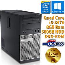 PC COMPUTER FISSO DESKTOP RICONDIZIONATO DELL 9010 CORE i5-3470 RAM 8GB 500GB