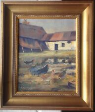 Poules Cotation jusque 700 € 1873 Ferme Post-Impressionnisme Ernest Betigny