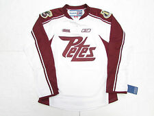 PETERBOROUGH PETES OHL WHITE REEBOK PREMIER 7185 HOCKEY JERSEY SIZE SMALL