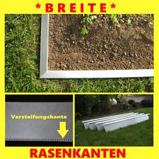 Breite Rasenkante 14 cm hoch Alu/Zink Rasenkanten Beeteinfassung Premium