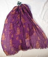 Lauren Ralph Lauren 100% Rayon Scarf NWOT Purple