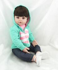 "22"" Toddler Reborn Dolls Soft Vinyl Long Hair Adora Girl dolls toys Boneca gifts"