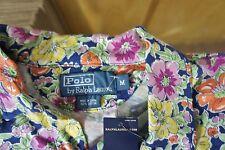 Ralph Lauren Short Sleeve Women's 100% Cotton Floral Polo Shirt NWT 98.00 sz M