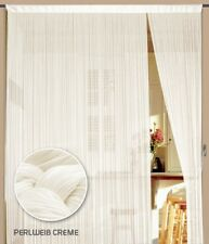 Fadenvorhang Vorhang Gardine Kaikoon 150 x 300 cm (BxH) Farbe Perlweiß creme