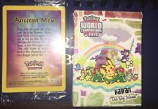 POKEMON Lot RARE sealed Mint Ancient Mew & 2010 World Championship Hawaii Deck