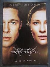 DER SELTSAME FALL DES BENJAMIN BUTTON - Presseheft - Brad Pitt, Cate Blanchett