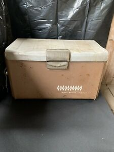 Vintage Retro Mid Century Aluminum Poloron Thermaster Ice Cooler Chest