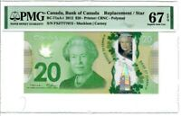 Canada $20 2012 BC-71aA-i PMG Superb GEM UNC 67 EPQ Single Replacement / Star
