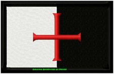 CHRISTIAN CRUSADER Flag Embroidered Motorcycle BIKER Patch