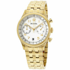 Bulova Men's 97B149 Chronograph Gold-Tone Stainless Steel Bracelet Watch