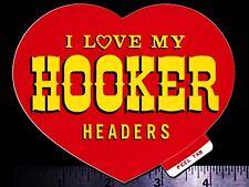 HOOKER HEADERS - Original Vintage 1960's 70's Racing Decal/Sticker