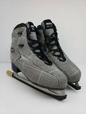 Roces Womens Ice Skate Brits Check Black White/Silver Usw 10