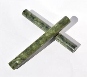 """HOT STONE MASSAGE: Green Jade """"Rolling Pin"""" Massage Stone, 23.5 x 2.3cm"""
