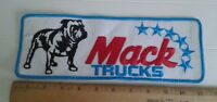 "Vintage Mack Trucks Logo Patch Large 11"" x 3"" Back Uniform Jacket"