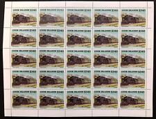 Cook Is. #865 Sheet of 25 Locomotives 1985 MNH