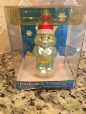 Collectible Care Bear Glass Christmas Ornament WISH BEAR 2005 New Original Box