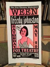 WEEN and FREEDY JOHNSON - Fox BOULDER, CO – 5/20/1995  POSTER  Freedy Johnson