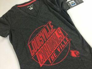 Louisville Cardinals T-Shirt The Ville Womens XS/S Slim Fit V-Neck Alumni NEW