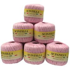 Gomitolo Cotone Scintilla 10 Pezzi Col Rosa Lamè n°11