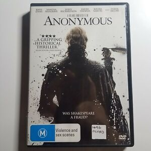 Anonymous | DVD Movie | Drama/Historical | 2011 | Rhys Ifans, Vanessa Redgrave